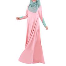 Muslim Women Garments Long Dress Lace Macrame Sunday Clothes  pink  M - $35.99