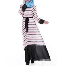 Muslim Chiffon Robe Women Garments Long Dress  orange - $30.99