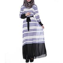 Muslim Chiffon Robe Women Garments Long Dress   sapphire blue - $30.99