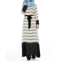 Muslim Chiffon Robe Women Garments Long Dress   bright yellow - $30.99