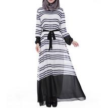 Muslim Chiffon Robe Women Garments Long Dress   navy - $30.99