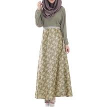 Muslim Long Dress Women Garments   cyan  L - $30.99