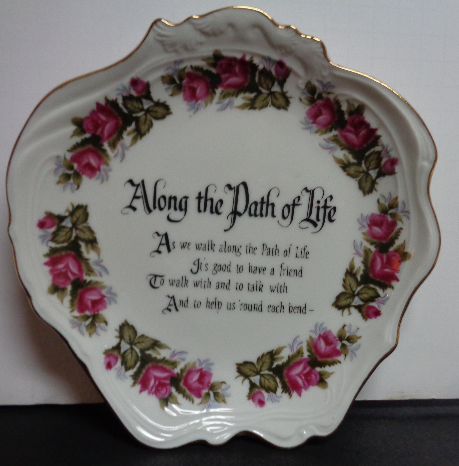 Norcrest 1970 Fine China Wall Decor Plate ALONG THE PATH OF LIFE Made in Japan