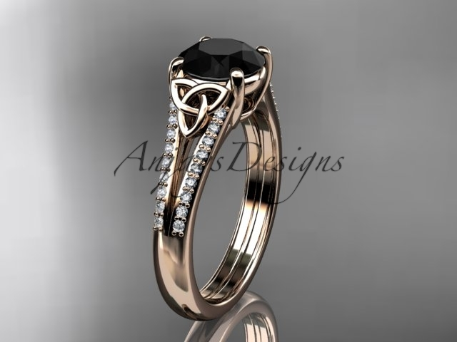 G ring  diamond engagement ring  celtic wedding rings  celtic engagement rings  black diamond  1