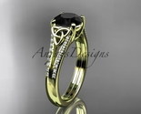 D engagement ring  celtic wedding rings  celtic engagement rings  black diamond  1 thumb155 crop