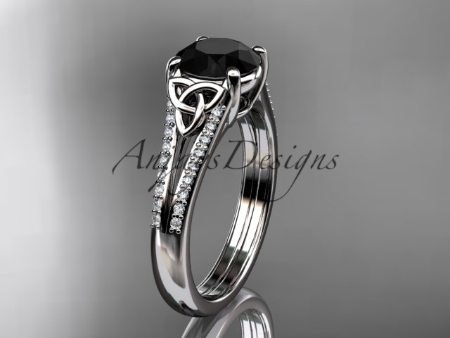 G ring  diamond engagement ring  celtic wedding rings  celtic engagement rings  black diamond  1