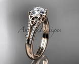 Ng  celtic wedding rings  celtic engagement rings  forever brilliant moissanite  1 thumb155 crop