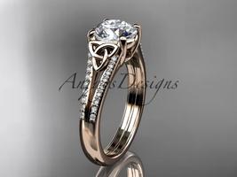 Nt ring  celtic wedding rings  celtic engagement rings  forever brilliant moissanite  1 thumb200