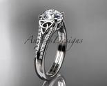 Ng  celtic wedding rings  celtic engagement rings  forever brilliant moissanite  1 thumb155 crop
