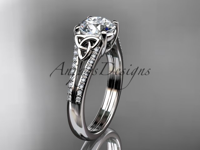 engagement ring  celtic wedding rings  celtic engagement rings  forever brilliant moissanite  1