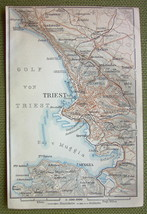 ITALY Triest Triest City Plan & Environs - 1911... - $8.42