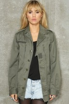 New French army olive field jacket F2 combat coat surplus army military ... - $25.00