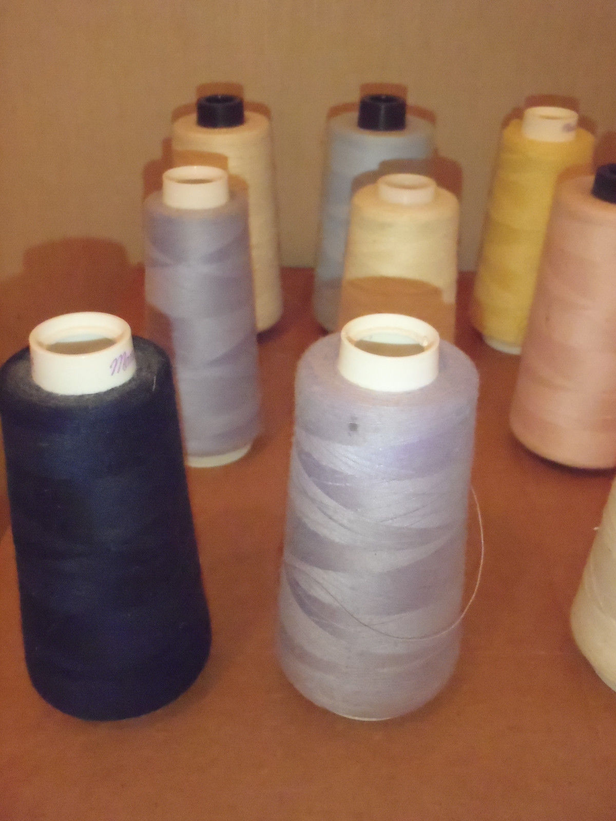 LOT OF 19 MAXI LOCK SERGER THREAD SPOOLS