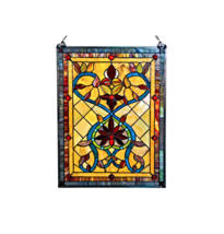 River of Goods Stained Glass Fiery Hearts and F... - $196.69