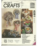 McCall's Sewing Pattern 6281 Recycling Rags Hats Centerpiece Baskets New... - $9.98
