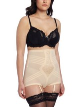 Rago Women's Hi Waist Brief Panty, Beige, Small (26) - $34.75