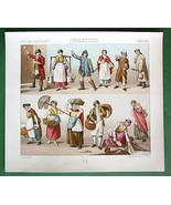 ENGLAND Costume Fashion Milkmaid Washerwomen et... - $9.84