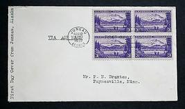 US Stamp Sc# 800 Block of 4 FDC  Juneau Alaska Nov 12 US Territorial Pos... - $8.99