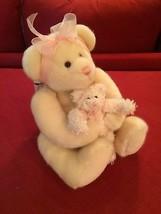 Plush Teddy Bear Mama & Baby Soft Pink by Gund - $18.00