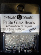 Mill Hill Petite Glass Beads for Needlework Projects 40161 Crystal - $1.25