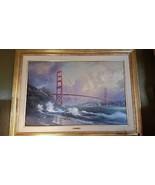 THOMAS KINKADE San Francisco, Golden Gate Bridge Canvas 24 x 36 256 / 39... - $2,350.50