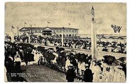 NJ Asbury Park Boardwalk Arcade Baby Parade Day Vintage 1909 Postcard - $7.99