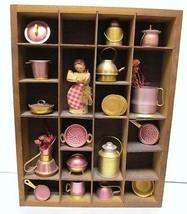 "PRICE PRODUCTS Folk Art Tin Metal Miniatures Wall Decor Pots Flowers 12""... - $39.95"
