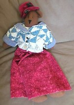 Artisan BEAR Doll Toy Cloth Large Hand Crafted ... - $39.95