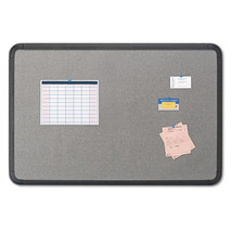 Iceberg Fabric Bulletin Board, 66 x 44, Gray w/Black Polyethylene Frame, EA - $239.99