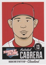 Asdrubal Cabrera 2012 Panini Triple Play Card #22 - $0.99