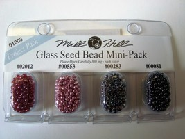 Mill Hill Glass Sead Bead Mini Pack 01003 Project Pack - $1.40