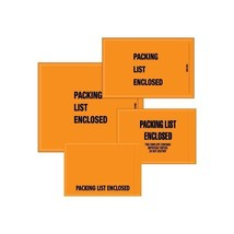 """Mil-Spec """"Packing List Enclosed"""" Envelopes, 4 1/2""""x6"""", Orange, 1000... - $39.99"