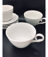 CHRISTIAN DIOR Provence Collection Blanc Coffee Cups & Saucers SET of 4 - $37.04