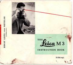 Leica M3 Instruction Book User's Manual Good Shape Rare NiCE ! - $24.00