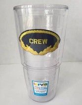 Tervis 24 oz Tumbler Cup Crew Hot Cold Drink New USA Made Dishwasher Saf... - $19.33