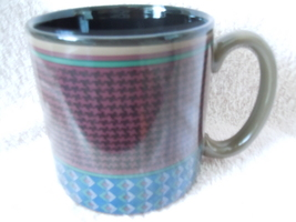 Houndstooth Brown Mug 1997 Potpourri Press - $1.99