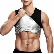 Men's Sweat Shaper Vest, Workout Tank Top, Black, Size M image 1