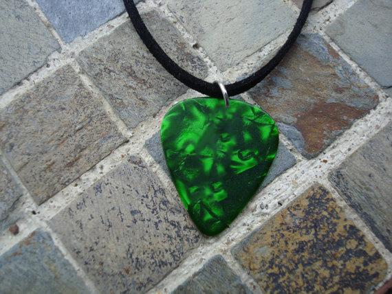 "Guitar Pick Necklace ""Amethyst Purple"" - Music Fashion Jewelry Gift"