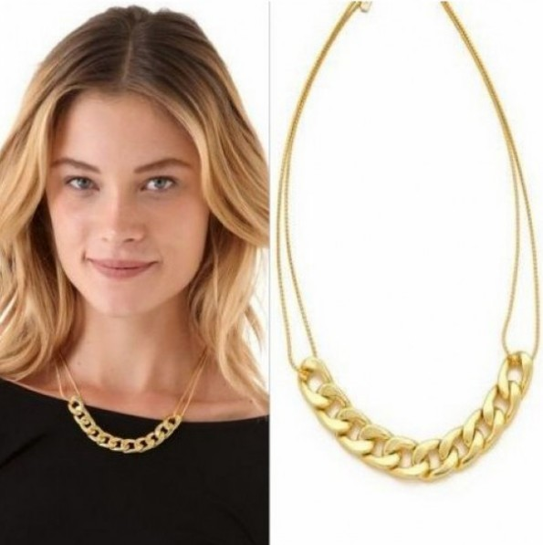 Primary image for Punk Rock Gold Oval Chain Necklace