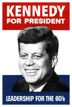 KENNEDY FOR PRESIDENT Campaign 8 1/2 x 11  Glossy Reprint Photo - $7.80