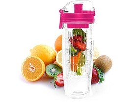 Double Walled Infuser Water Bottle  Healthy Infusion Gym Health PINK No ... - £8.09 GBP