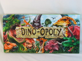 Dino-opoly 2004 Monopoly Board Game Late for the Sky 100% Complete Near ... - $18.51