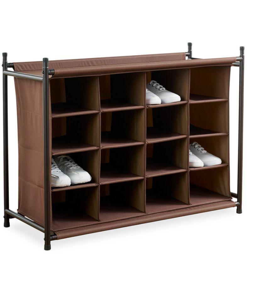 Standing Shoe Storage Rack Cubby Organizer 4 Tier Pair