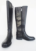 NIB  Vince Camuto Farren Tall High Leather Riding Boot Boots Sz 5 M Blac... - $98.95