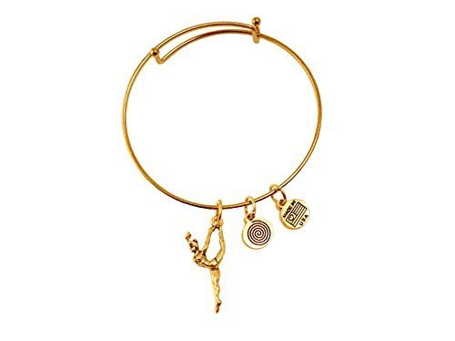 Dancer Gold Bangle Bracelet