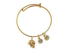 Sugar Skull Gold Bangle Bracelet