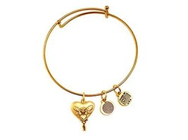 Fairy Heart Gold Bangle Bracelet