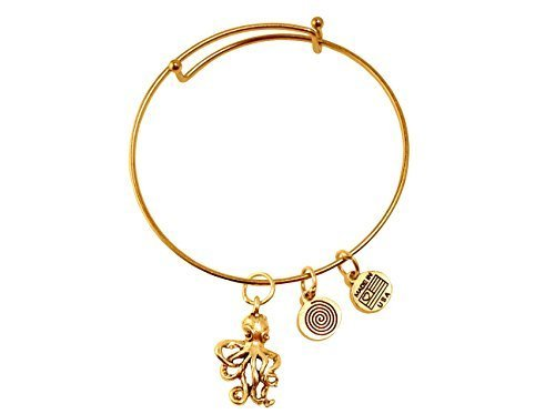 Octopus Gold Bangle Bracelet
