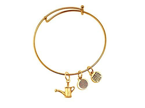 Gardener's Watering Can Gold Bangle Bracelet