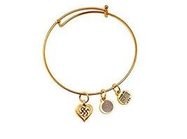Celtic Heart Gold Bangle Bracelet